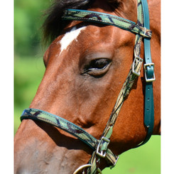 ENGLISH BRIDLE with CAMOUFLAGE Biothane