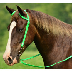 WESTERN BRIDLE (One Ear or Two Ear Split Ear Browband) made from BETA BIOTHANE (Solid Colored)