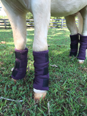 Leg protection without the hassel of wrapping one long strips around and around like traditional polo wraps