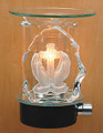PRAYER HANDS WITH CROSS GLASS PLUG IN ELECTRIC OIL BURNER MM