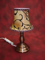 AROMA TABLE LAMP CREAM AND BLACK FABRIC MM BY 012