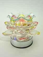 touch lamp 3 way glass pearl rose