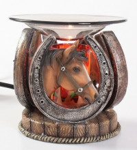 This is a beautiful poly resin electric oil burner.