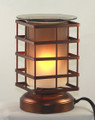 Touch oil burner that you can use as just a light or add glass tray with wax chips or fragrance oil.