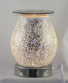 TOUCH OIL BURNER THAT CAN BE USED AS JUST A LIGHT OR PUT GLASS TRAY ON AND FILL WITH WAX CUBES OR OIL.