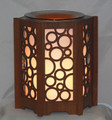 WOOD DARK BROWN AIR BUBBLES OIL BURNER EW-756 ET