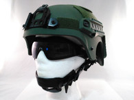 IBH Airsoft Helmet with Rails/NVG Mount OD Green