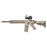 G&G CM16 R8-L Combat Machine AEG Long w/ Red Dot Tan
