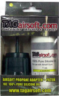 TAGAirsoft Gas Propane Adapter Kit plus 1oz Oil