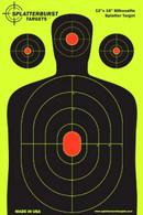 5 Pack 12 x 18 Silhouette Splatter burst Paper Target