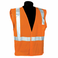Orange Safety Mesh Vest Ref Stripe