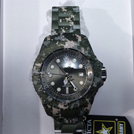 Invicta 52mm Reserve Army Hydromax Swiss Watch Green Camouflage