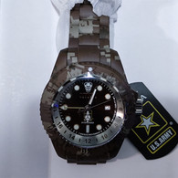 Invicta 52mm Reserve Army Hydromax Swiss Watch Brown Camouflage