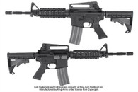 KING ARMS GHK COLT M4 RIS NYLON FIBER GBB RIFLE