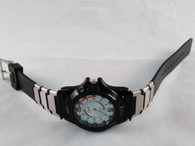 Military Style Sports Watch w/ Black Rubber Band