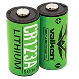 Valken Energy CR123A 3V non-rechargeable lithium Battery (2-pack)