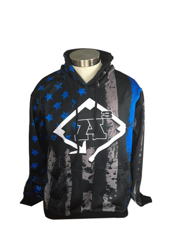 8261de77 A3 Back The Blue Sub-Dyed Hoodie - All American Athletics