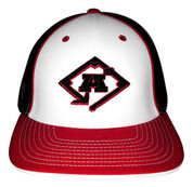 A3 Puff Logo Hat - Black, Red & White