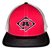 A3 Puff Logo Hat - Black, White & Red