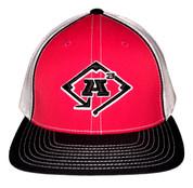A3 Puff Logo Hat - Black, White & Red