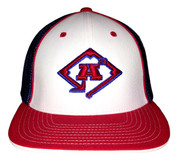 A3 Puff Logo Hat - Red, White & Royal