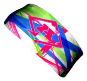 A3 Sub Dyed Headband - Green, Blue, Pink