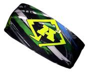 A3 Sub Dyed Headband - Green, Grey, Black