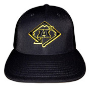 A3 Puff Logo Hat - All Black w/Gold & Black logo