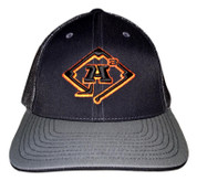 A3 Puff Logo Hat - Black/Charcoal  w/Black & Orange logo