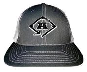 A3 Puff Logo Hat - Grey/White  w/Black & White Logo