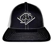 A3 Puff Logo Hat - Black/White  w/Black & White Logo