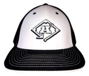 A3 Puff Logo Hat - Black/White  w/White & Black Logo
