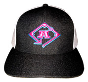 A3 Puff Logo Hat - Snapback Black Heather/White