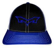 Monsta Puff Logo Hat - BLK/RO RYL OUTLINE