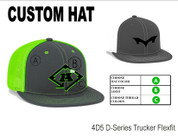 Custom Hat - Pacific Headwear 4D5 Trucker Flexfit Style