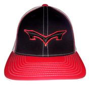 Monsta Puff Logo Hat - Red/Blk-Blk/Red