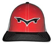 Monsta Puff Logo Hat - Red/Black-Blk/Wht