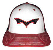 Monsta Puff Logo Hat - White/Red/Black-Blk/Red