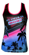 A3 Women's Racerback  Tank - Vice Black