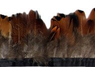 Pheasant Heart Feather Fringe