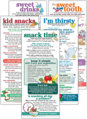 Set of Preschool Child Snack and Drink cards