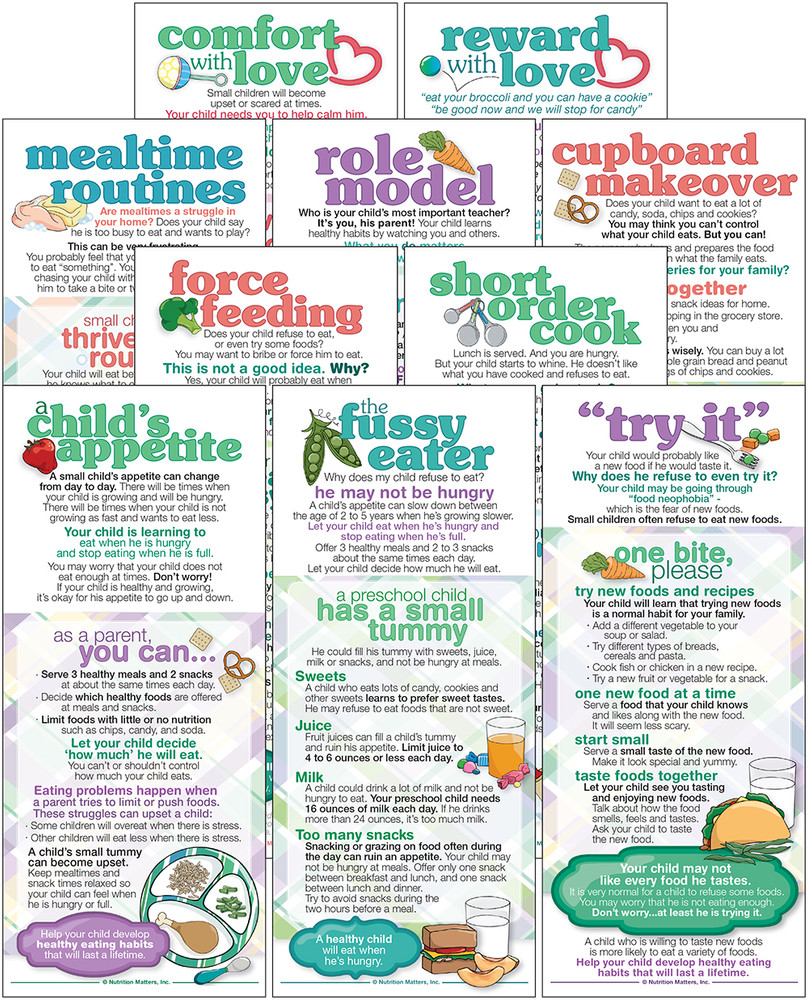 Set of Mealtime Parenting cards