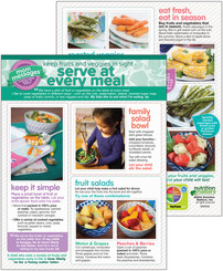 Serve Fruits and Veggies at Meals