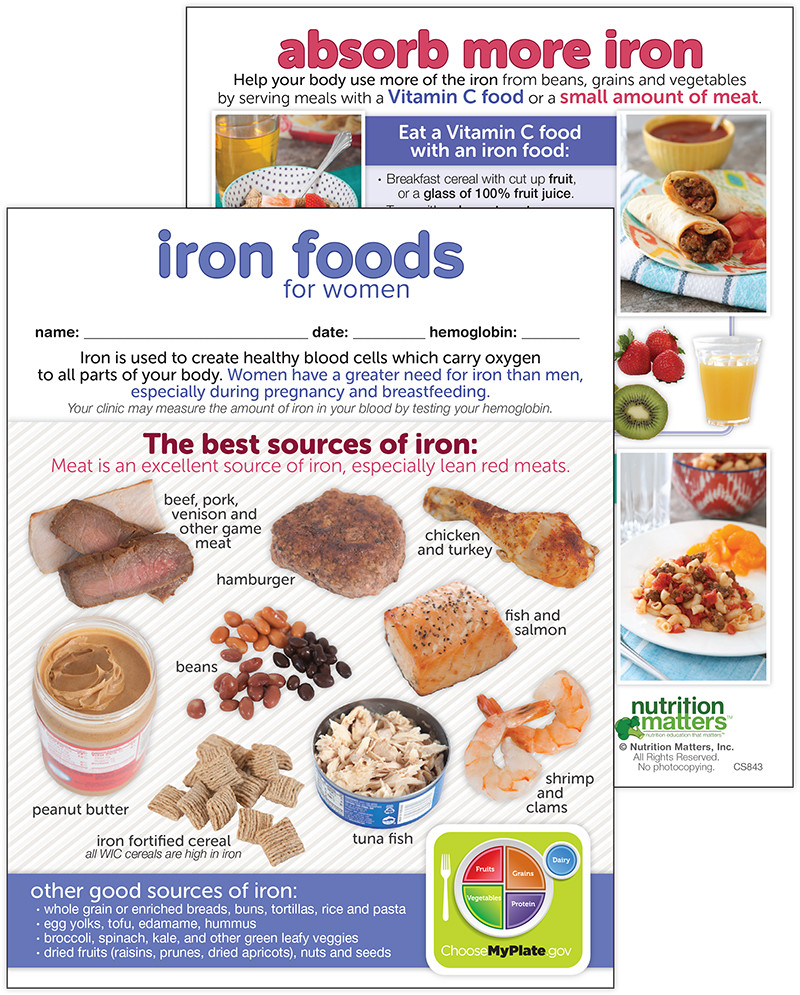 Which products have more iron? 70