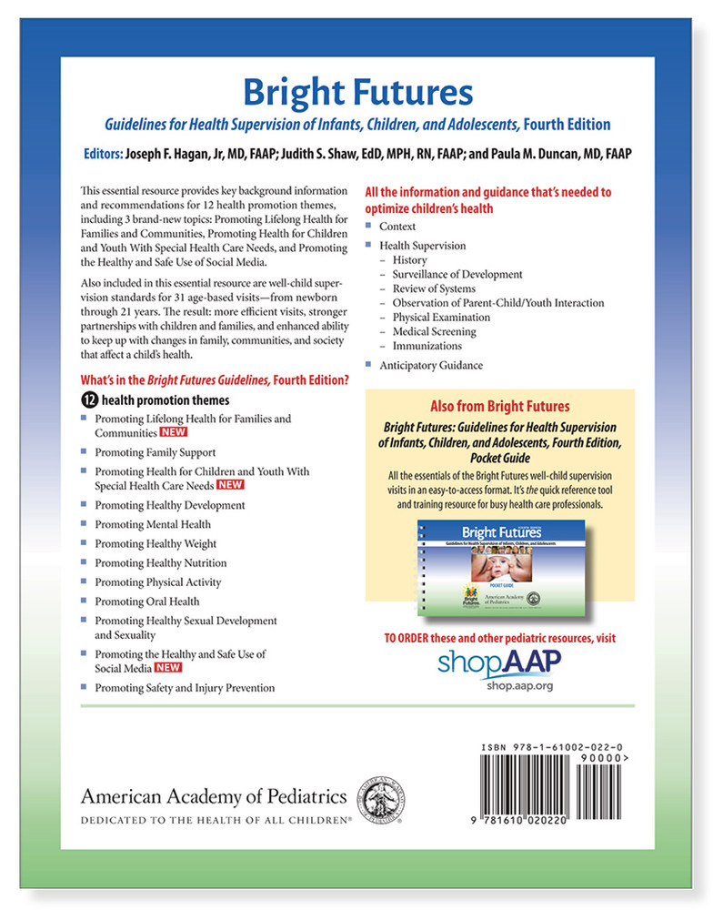 Bright Futures 4th Edition Nutrition Matters