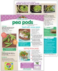 Sale - Pea Pods Storage & Recipe Sheet
