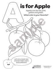 Fruit and Veggie Coloring Sheets