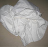 T-sheet  select all white knit recycled sheets (25 lbs per box)
