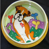 Bonezer Boxer Hand-Painted Dog Bowl