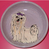 Squeeze Maltese Hand-Painted Dog Bowl